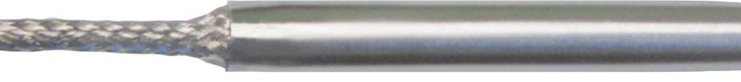 Stainless steel braided leads connected straight to cartridge heater